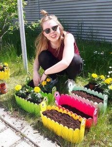 Blumen für die Patientenfenster